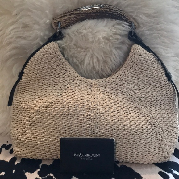 9a9643c2280 Yves Saint Laurent Bags | Horn Handle Hobo Bag Adjustable Shoulder ...